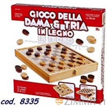 DAMA E TRIA LEGNO 30X30...